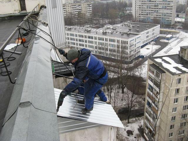 Герметизация балконного козырька