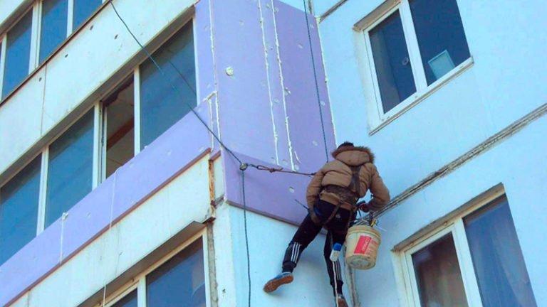 Высотное утепление балкона