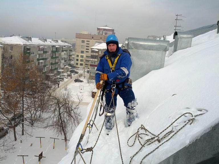 Цена уборки снега с крыш