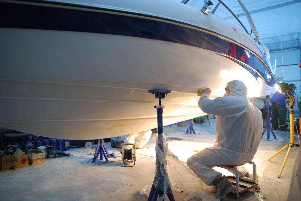 качественная покраска яхты