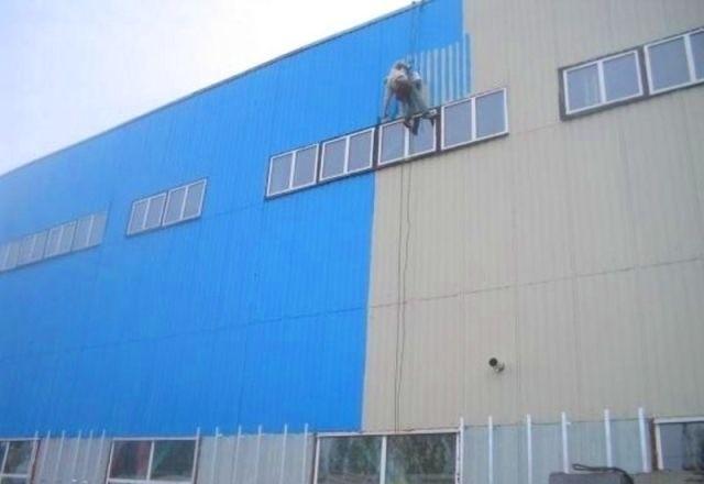 покраска завода снаружи