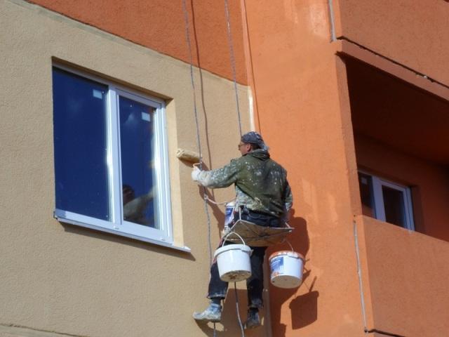 окрашивание здания