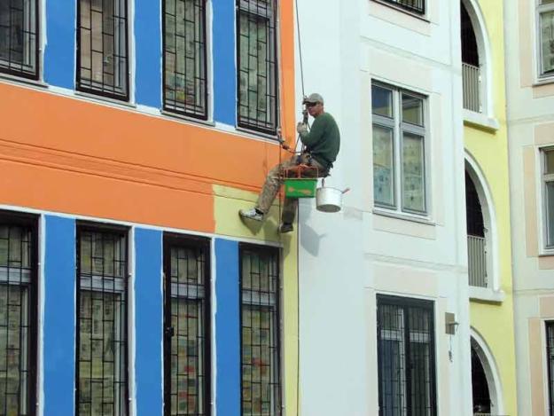 окрашивание многоквартирного дома