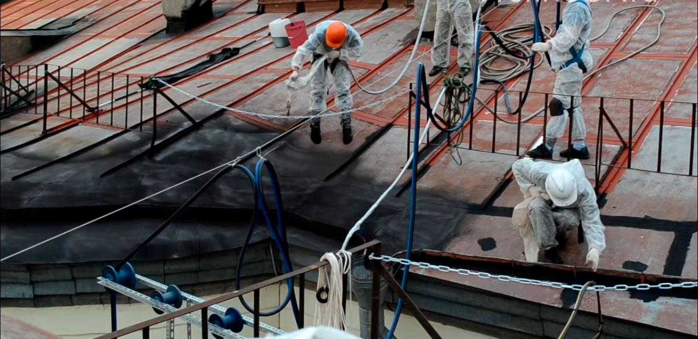 Ремонт крыши из металла