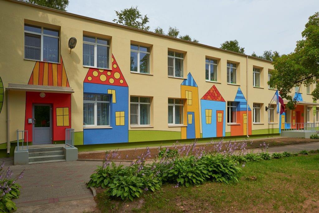 окрашивание здания детского сада