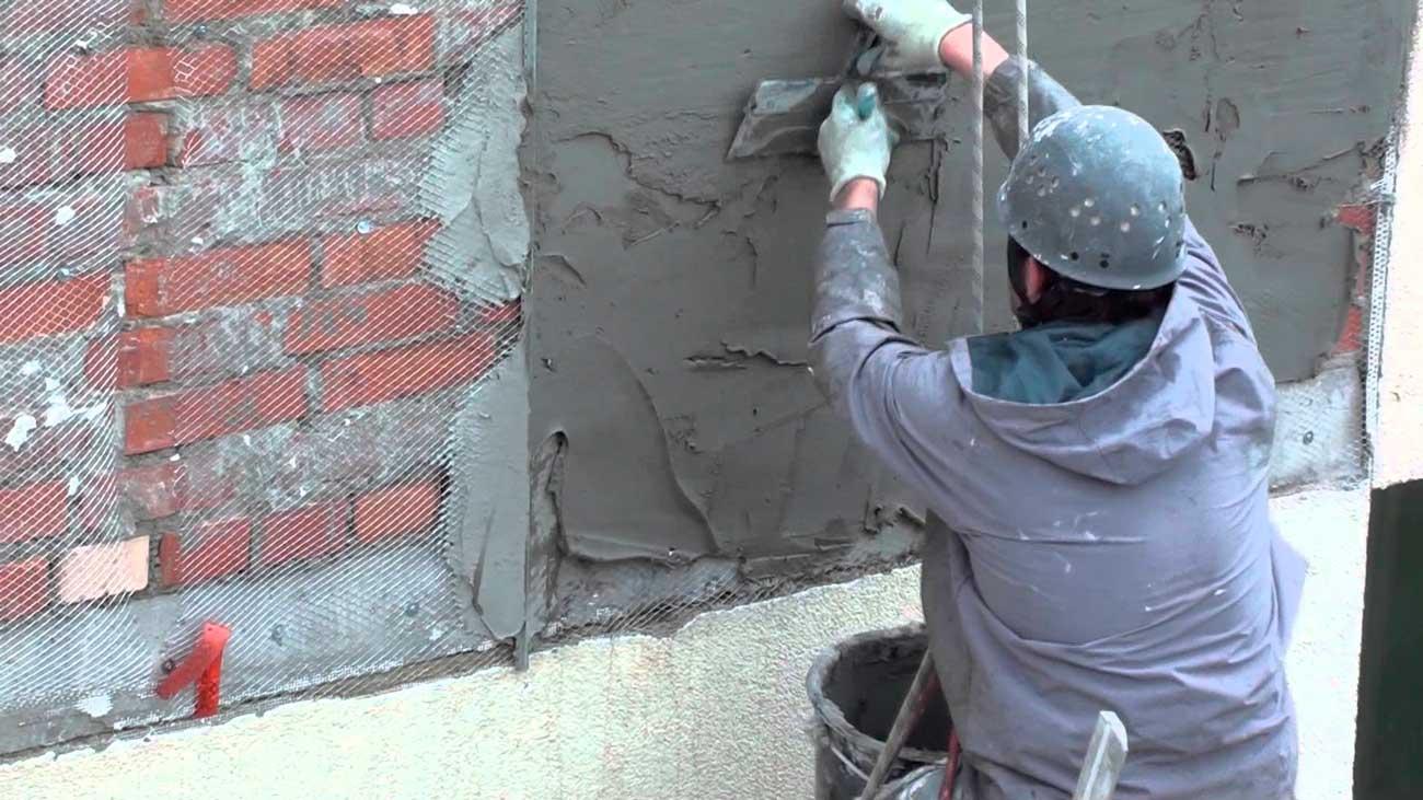 Штукатурка кирпичного фасада