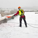 Очистка от снега кровель в Люберцах