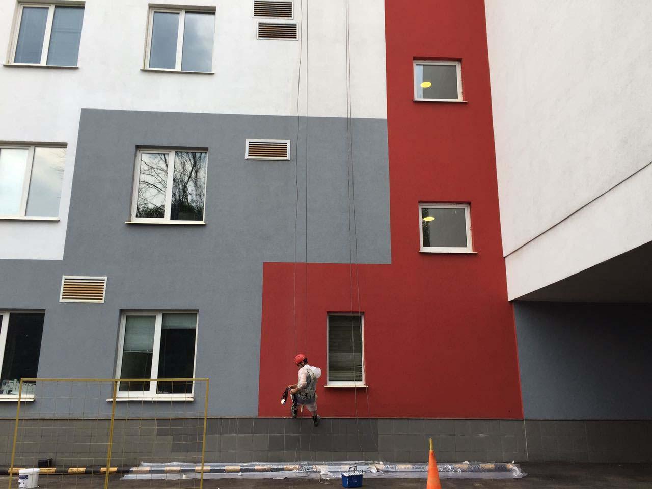 Высотная покраска и ремонт фасада
