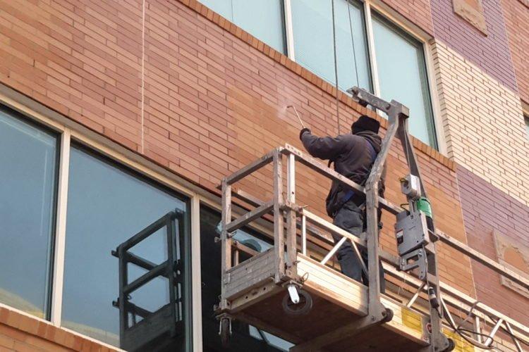 гидрофобизация фасада многоквартирного дома