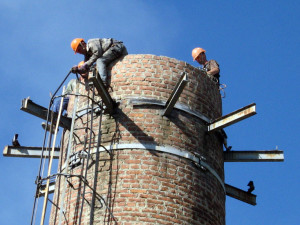 демонтаж дымовой башни