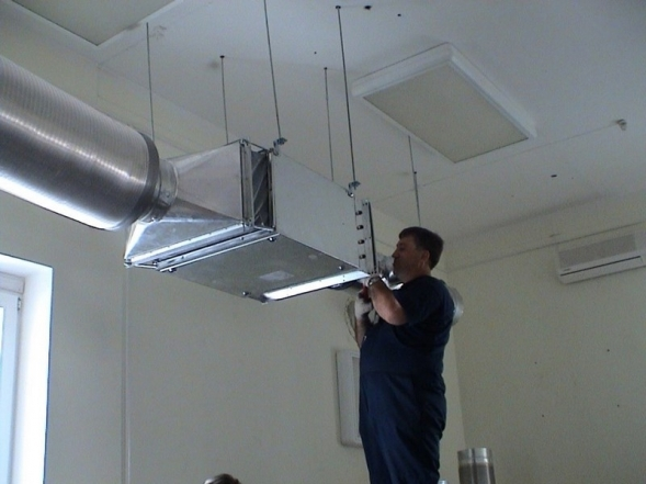 Монтаж вентиляционных каналов