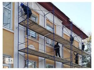 ремонт фасада здания