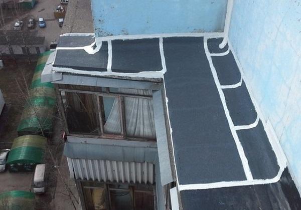 Ремонт кровли балконов