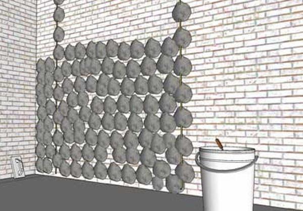 Накидка раствора при штукатурке стен из газобетона