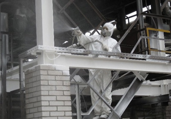 огнезащита металлоконструкций на высоте